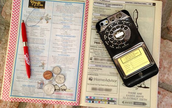 VIntage Payphone, Custom Phone Case for iPhone 4/4s, 5/5s, 6/6s, 6/6s+ and iPod Touch 5