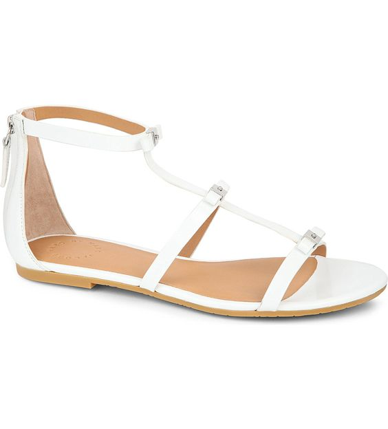 MARC BY MARC JACOBS Triple bow leather sandals (White