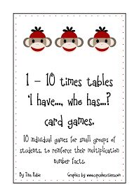 Good Morning Mrs. Rubie: 'Times Tables' Card Games Freebie - Update...