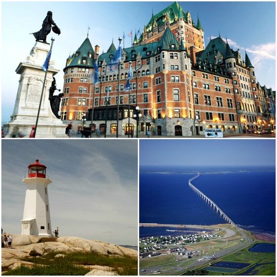 Highlights of a Canada & New England cruise include seeing the Hotel Frontenac at Quebec, top, Peggy's Cove lighthouse in Halifax and Prince Edward Island.
