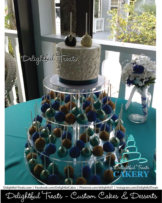 Gold Glitter Cake Toppers Orlando