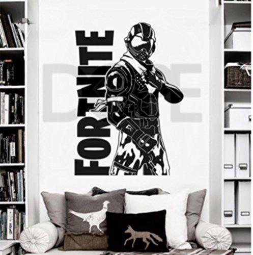 FORTNITE LOGO TEXT WALL ART Vinyl Transfer Graphic Decal Home Decor UK