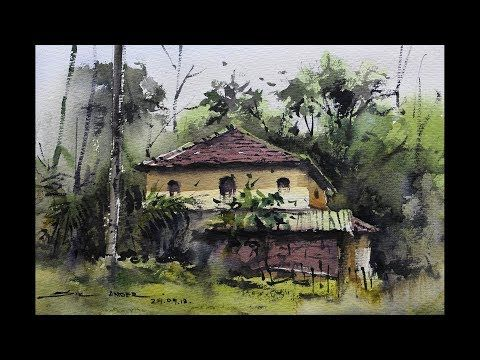 Watercolour Landscape Painting By Sikander Singh Chandigarh India