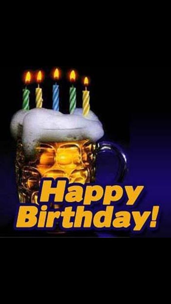 Happy Birthday Candles On Beer