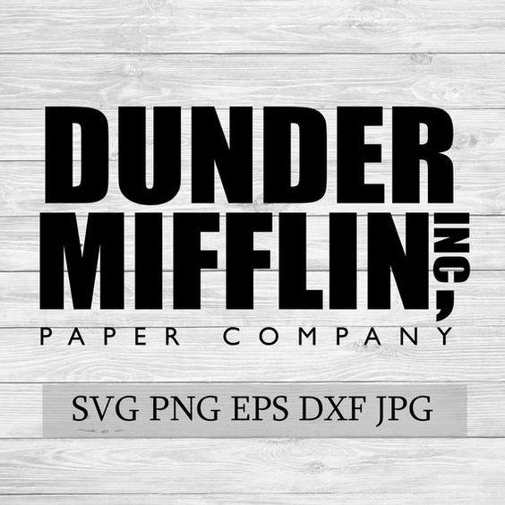 Dunder Mifflin Paper Company The Office Svg Eps Jpg Png Dwg Etsy Paper Companies Dunder Mifflin Mifflin