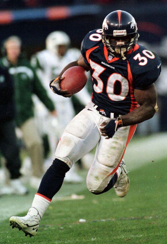 Men's Denver Broncos Terrell Davis #30 Navy Blue Alternate Stitched Elite NFL Jersey