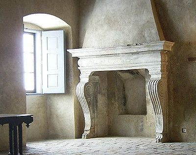 What an awesome fireplace! Grabstejn Castle