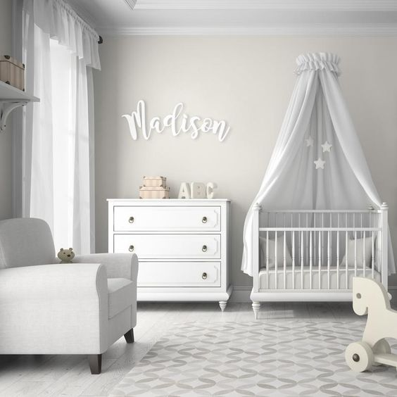 What better way is there to claim this space as yours, ours' or your precious little one's than with one of our custom made wooden name signs? Perfect for nurseries (and makes an excellent baby shower gift!), children's rooms or above the mantle amongst all your treasured family photos. ### WANT