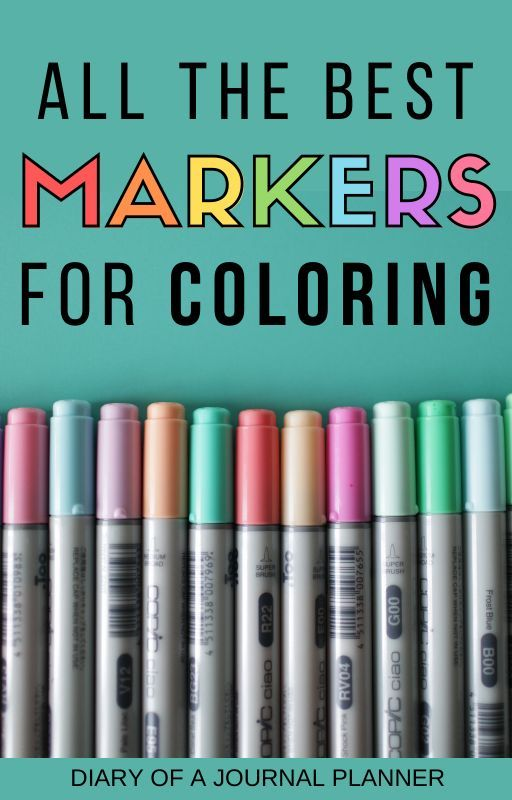 Best Markers For Coloring Books And Pages (2020) Coloring Books, Free Coloring  Pages, Best Pens