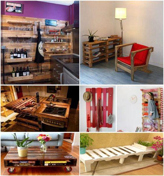Aqu tienes algunas ideas para fabricar muebles y for Cocinas hechas con palets