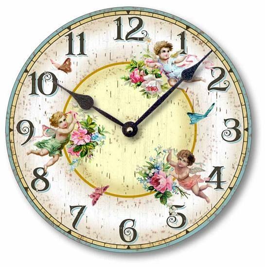 Item C2034 Shabby Chic Victorian Fairies & Butterflies Clock