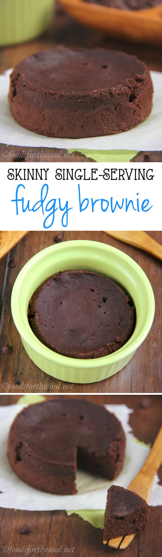 A rich, fudgy brownie you can make with just 6 ingredients in under 10 minutes! It's the perfect skinny & clean-eating treat!