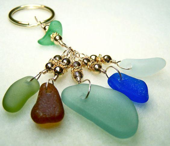 Sea Glass Key Chain