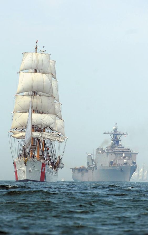 Opsail New London 2012.  US Coast Guard Cutter Eagle
