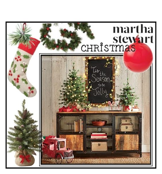 """""""Martha Stewart Christmas!"""" by whirlypath ❤ liked on Polyvore featuring interior, interiors, interior design, home, home decor, interior decorating, Home Decorators Collection and country"""
