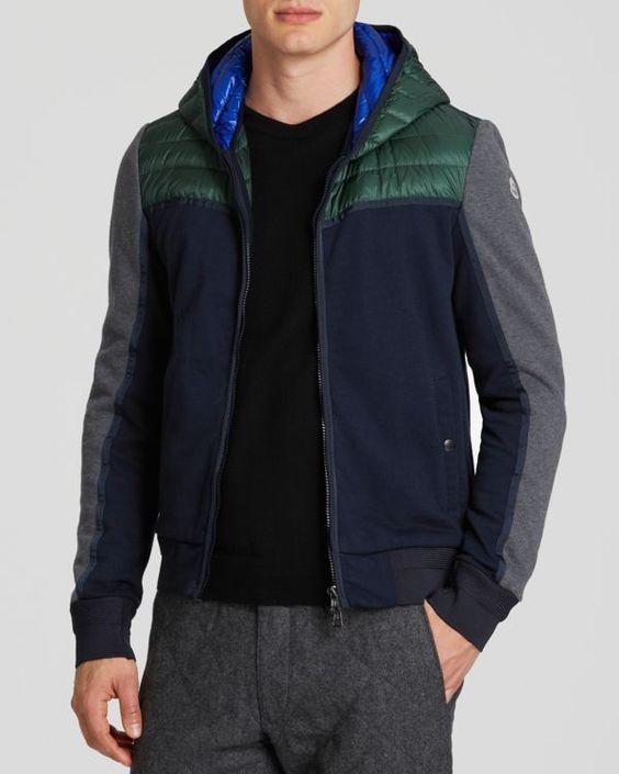 Moncler Cardigan Color Block Hooded Jacket #moncler #jacket