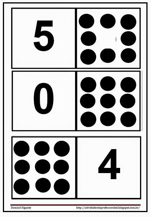 Domino De Quantidades E Numerais Ate 9 En 2020 Matematicas