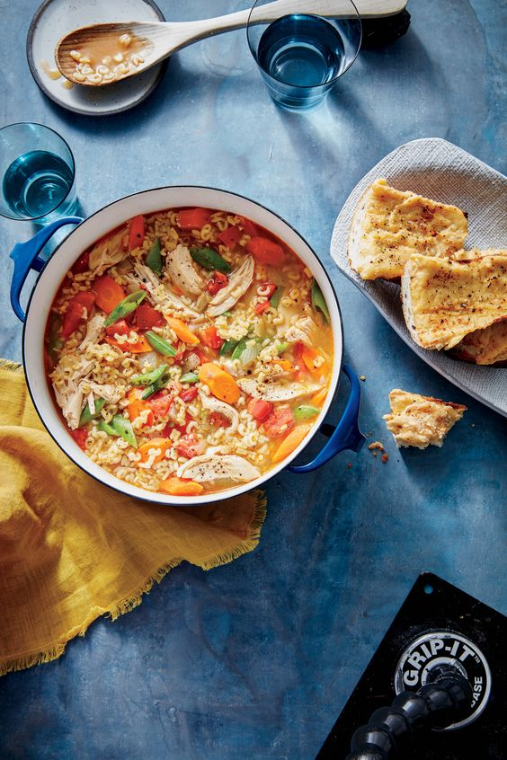Fresh, brightly colored vegetables add some welcome vibrancy to this comforting soup. Have fun with the noodle shape, or use any small pasta you have on hand. If you'd like, sprinkle each serving with freshly ground black pepper for a finishing touch. This quirky twist on the classic recipe is a perfect combination of the hearty vegetable minestrone soups of your childhood and comforting chicken noodle soup. We love the alphabet shape noodles, which encourage pint-sized palates to enjoy…