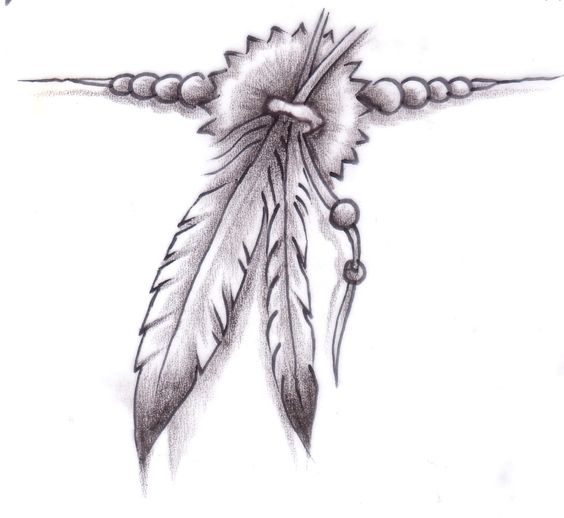 Native American Eagle Feather Designs