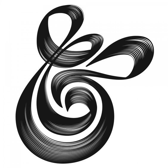 Rad ampersand - the lines are inspired.