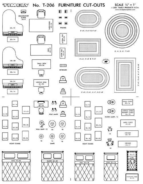 Furniture Arranging Kit 1 4 Scale
