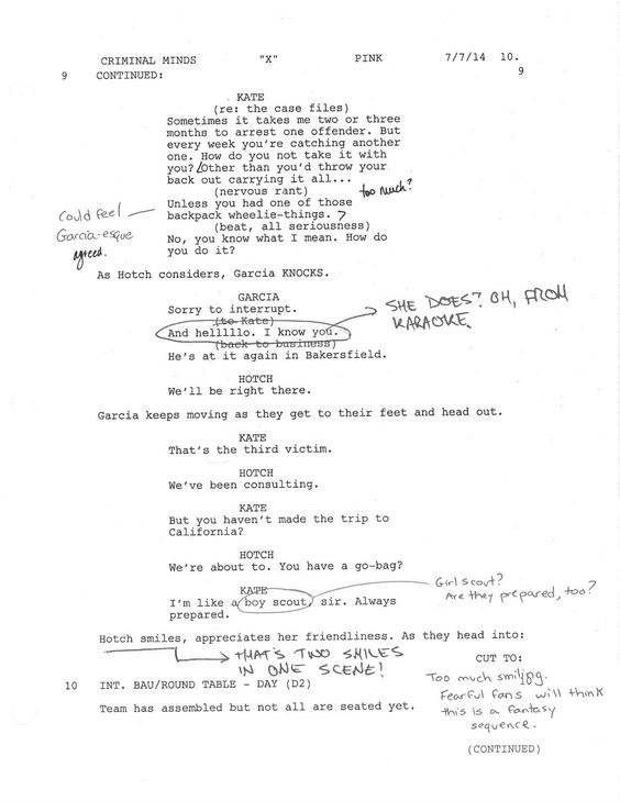 Inside Jennifer Love Hewittu0027s u0027Criminal Mindsu0027 Debut Season - screenplay template
