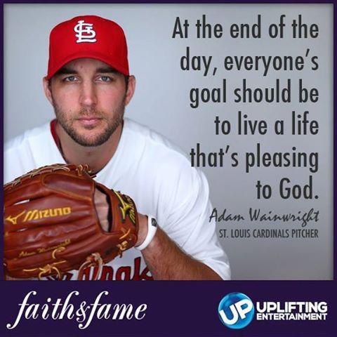 Adam Wainwright - St Louis Cardinals Baseball Pitcher World Series - Faith Fame