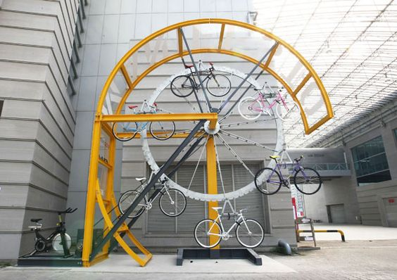 The Bike Hanger is an essential facility for dense urban areas seeking to increase bicycle-friendliness. The Bike Hanger, which has the capacity to store from twenty to thirty-six bicycles, offers a low-maintenance and environmentally friendly alternative to the typical electrically operated high-density bicycle-storage facilities. By featuring a control station that functions like a geared stationary bicycle, the Bike Hanger is operated solely througg the pedaling of the user. The Bike…