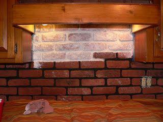 Whitewashing my faux brick backsplash dream house for Kitchen designs by clay