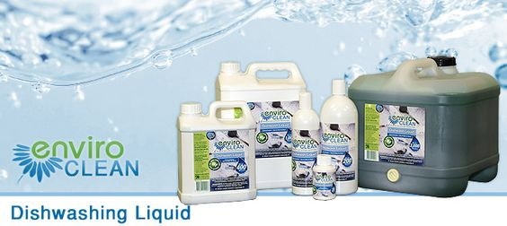 enviroclean dishwashing liquid. GREY WATER SAFE. Also suitable for light cleaning, bench tops, floors etc
