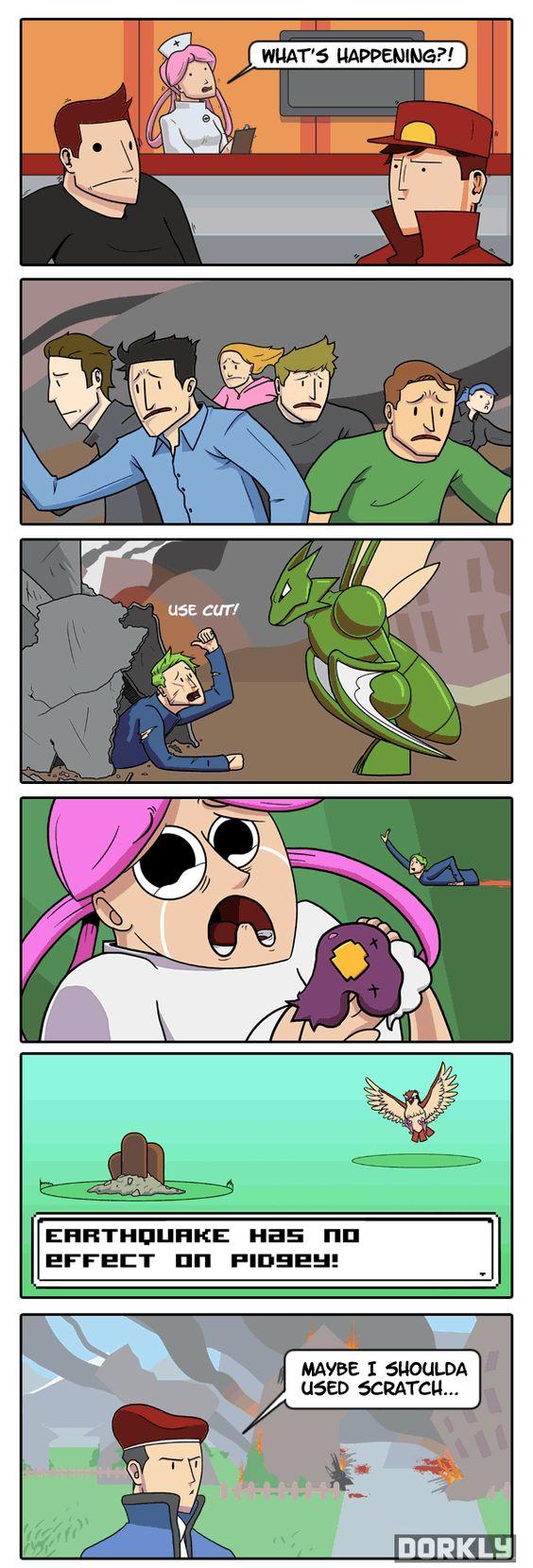 The world of pokemon cruel as always