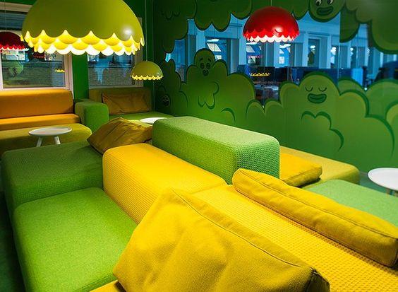 O fabuloso escritório do jogo Candy Crush