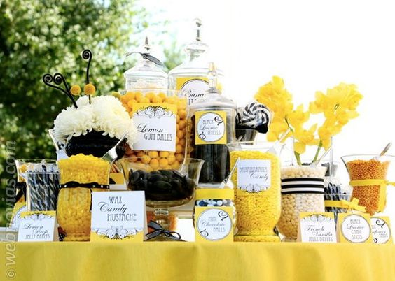 Candy bar para bodas www.webnovias.com/blog