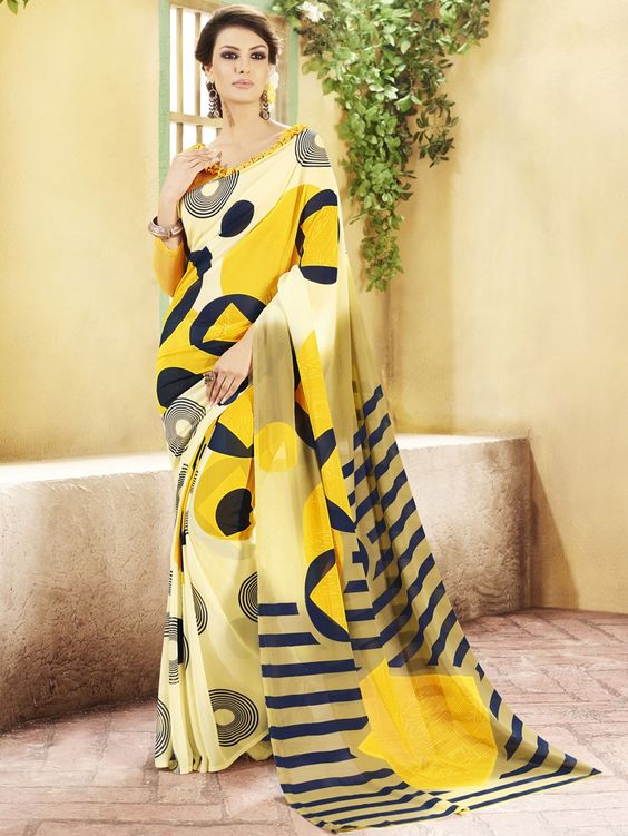 Yellow Colur Georgette & Printed Contemporary Sarees   https://www.designersareesuite.com/catalog/product/view/id/25896/s/yellow-colur-georgette-printed-contemporary-sarees/category/3/#.Vjd5FtIrLIU