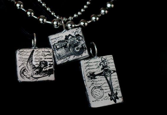 Ceramic embossed pendants- beautiful!