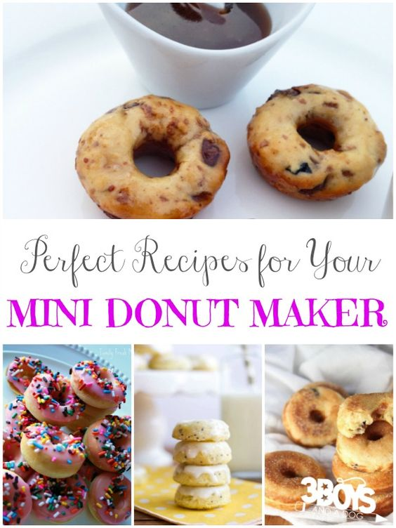 Have a Mini Donut Maker? Have some baking fun with these perfect Mini Donut Maker recipes!