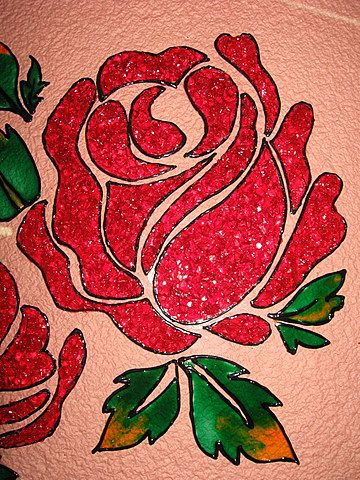 Simple paintings of flowers roses calligraphy for Easy way to paint a rose