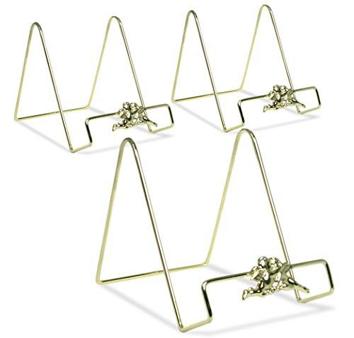 Wire Easel Plate Display Stand Holders - Smooth Brass Metal with Cherub Angel Figures - 6 Inch - Pack of 3   Plate display stands Brass metal and Smooth  sc 1 st  Pinterest & Wire Easel Plate Display Stand Holders - Smooth Brass Metal with ...