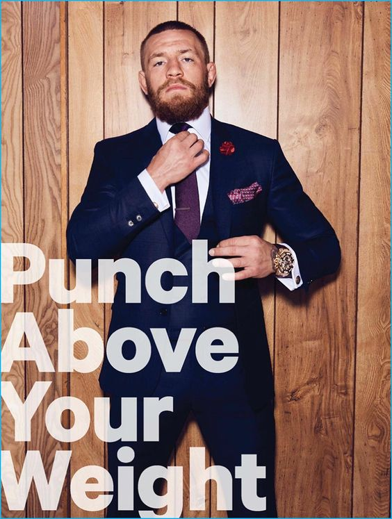 Conor McGregor suits up for his Men's Health UK cover photo shoot.