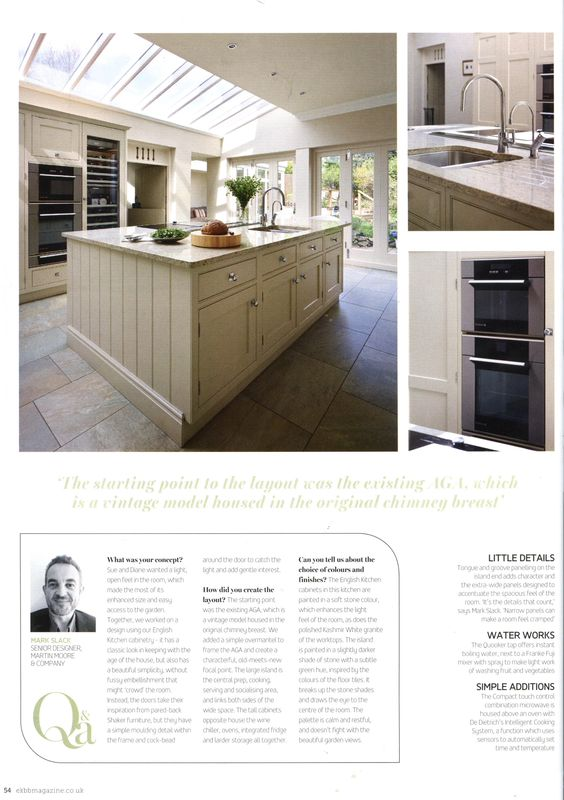 Martin Moore's English kitchen cabinetry creates a classic look in this large airy kitchen martinmoore.com Essential Kitchen Bathroom Bedroom September 2014