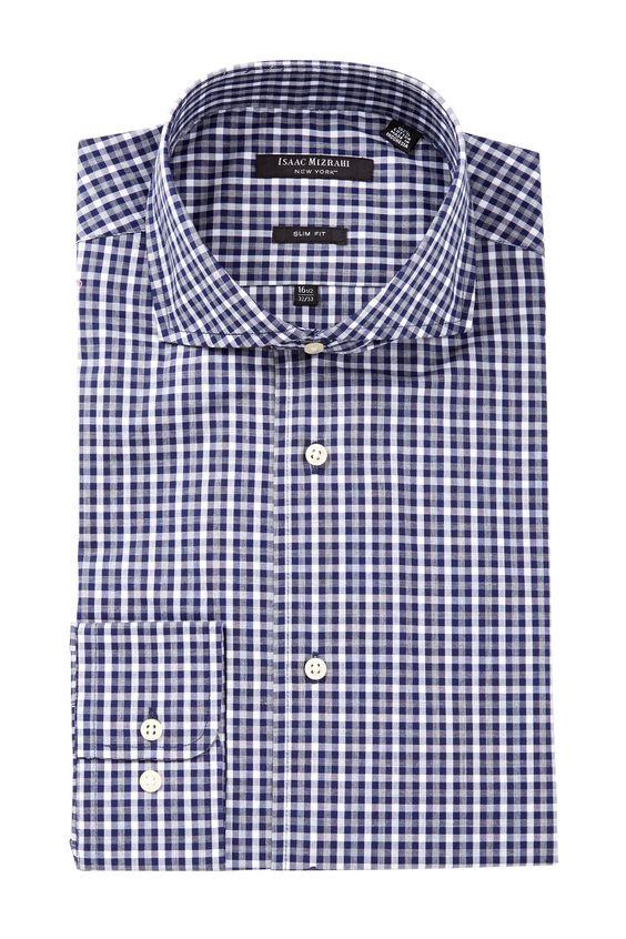 ... Checkered Print Long Sleeve Button Front Dress Shirt | Nordstrom Rack