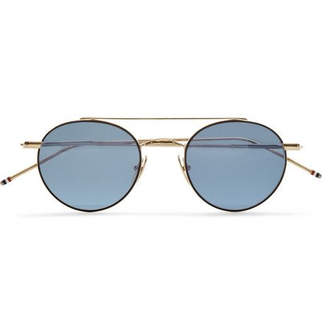 Thom Browne Round-Frame Metal Sunglasses | MR PORTER (£358.00) - Svpply