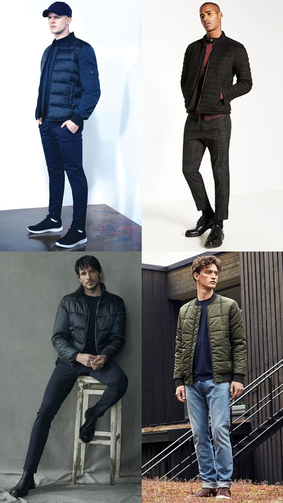 Men's Cropped Puffer Jackets Winter Outfit Inspiration Lookbook