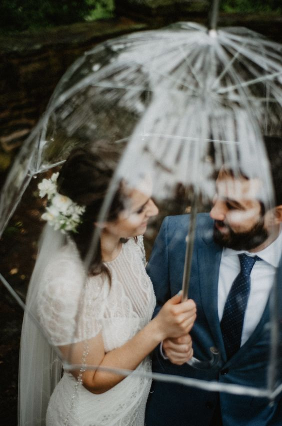 You won't have to worry about rain with this clear umbrella - perfect for unique photo opportunities as well