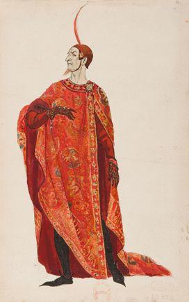 Joseph-Porphyre Pinchon, costume de Méphistophélès pour Faust de Gounod, 1908: affiche par Francisque Delmas.: