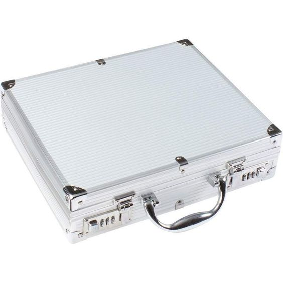 Classic Safari Aluminum-Framed Combo Lock Hand Gun Briefcase Style Holder #ClassicSafari