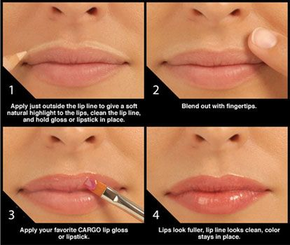 Never thought about doing this, but it definitely makes her lips look pretty!