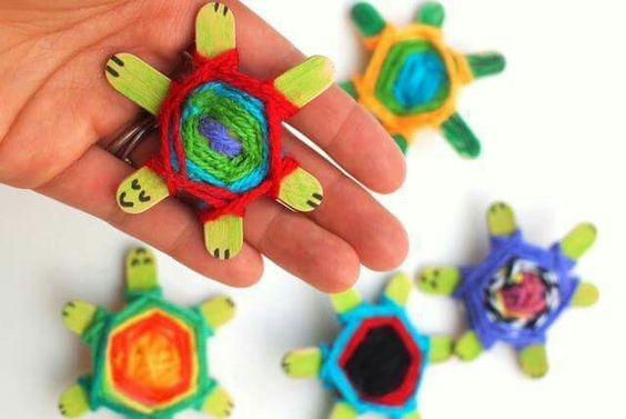 Paddle pop stick turtles - so cute!: