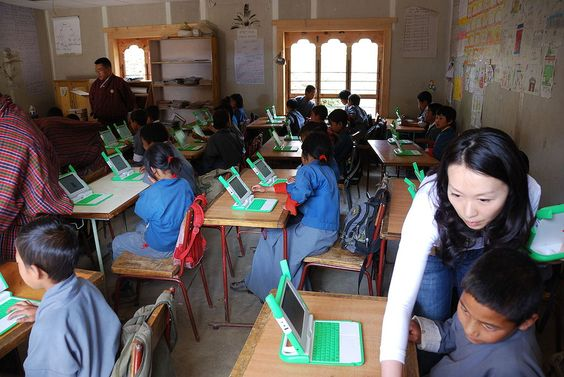 Class room in a Thimpu school - Bután -