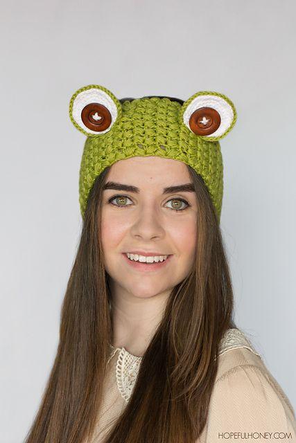 Ravelry: Frog Headband pattern by Olivia Kent